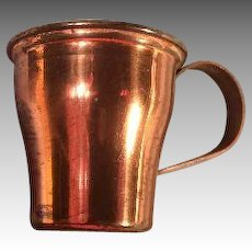 Antique Dollhouse Copper Cup for Miniature German Kitchen