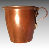Antique Copper Cup for Miniature German Kitchen with Great Handle