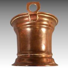 Antique Copper Bucket for Miniature German Kitchen Missing Handle