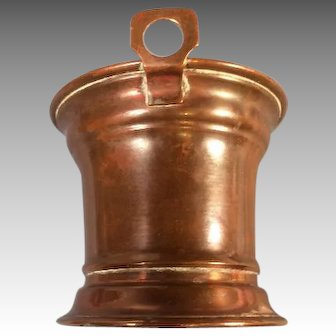 Antique Copper Bucket for Miniature German Kitchen Missing Handle