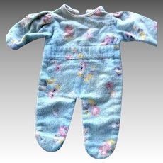 Blue Flannel Pajamas Children's Print For Dy-Dee Baby, Betsy Wetsy or Tiny Tears Doll