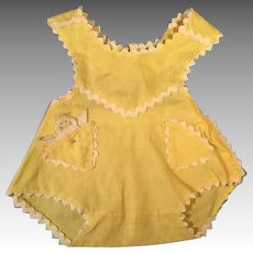 Adorable Yellow Cotton Sun Suit for Dy-Dee Baby or Tiny Tears Doll