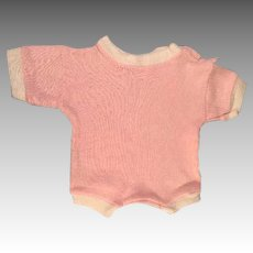 "Pink Cotton Jersey Romper Outfit Fits 16"" Dy-Dee Baby or Tiny Tears Doll"