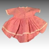 """Pink Romper Dress 1930s Fits 15-16"""" Dy-Dee Baby or Tiny Tears Doll"""