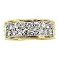 David Webb diamond platinum gold band ring