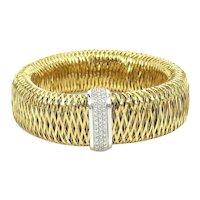Roberto Coin Large Size Primavera bracelet with 54 diamonds