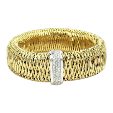 Roberto Coin Large Size Primavera bracelet with 54 diamonds