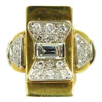 Geometric 18kt. gold diamond beautiful ring