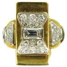 Geometric 18kt. gold diamond beautiful ring