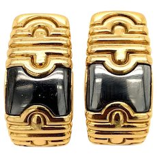 Bulgari 18kt. Gold and Steel Parentesi Earrings