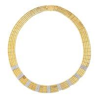 18 Kt. Gold Diamond Cleopatra Style Necklace