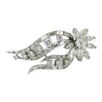 Vintage 1950's Platinum Diamond Pin