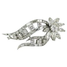 Vintage 1950's Platinum Diamond Pin