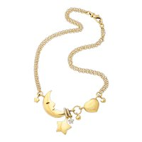 Vintage 18kt gold Man in the Moon Necklace