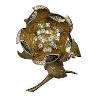 Hammerman Bros. 18kt, Gold Diamond En Tremblant Pin