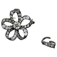 Antique Edwardian Diamond Pin