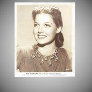 Ann Sheridan 1939 Signed Photograph