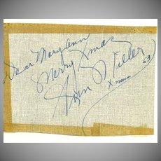 Ann Miller Autograph