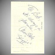 Alan Hale Jr Autograph