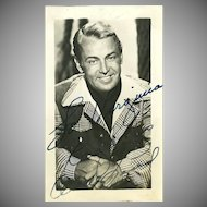 Allen Ladd Signed Photograph