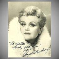 Angela Lansburry Signed Photograph