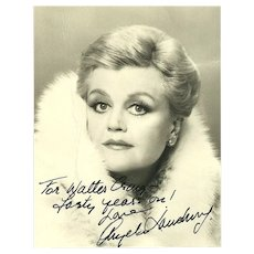 Angela Lansburry Signed Photograph