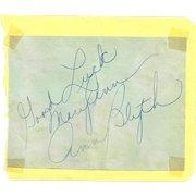 Ann Blyth Autograph