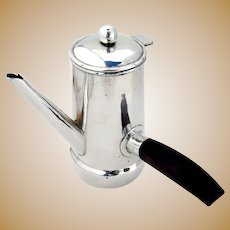 William Spratling Demitasse Coffee Pot Sterling Silver Rosewood 1940