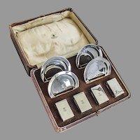 English Smoking Set Mappin Webb Sterling Silver 1933 Boxed