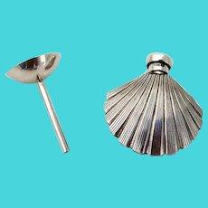 Tiffany Co Shell Perfume Bottle Funnel Set Sterling Silver