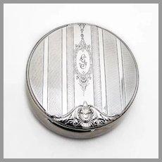 Wallace Art Deco Dresser Box Gilt Interior Sterling Silver Mono