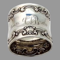 Gorham Strasbourg Napkin Ring Sterling Silver Mono