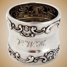 Strasbourg Napkin Ring Gorham Sterling Silver Mono