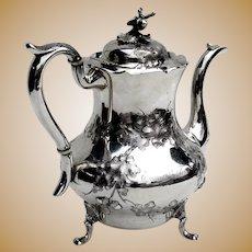 Acorn Teapot Jones Ball Poor Coin Silver 1840 Boston