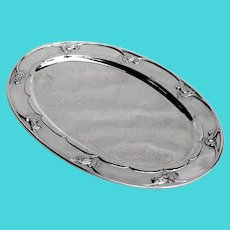 Blossom Oval Tray Sterling Silver Georg Jensen Old Mark Denmark