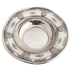 Rose Point Bon Bon Bowl Wallace Sterling Silver 1934