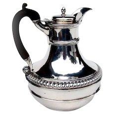English Hot Water Jug Horn Handle Paul Storr Sterling 1805