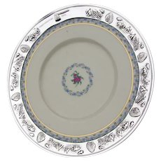 Lenox Fairmount Plate Native American Motif Rim Sterling Silver