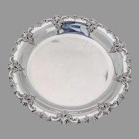 Grande Baroque Sandwich Plate Wallace Sterling Silver