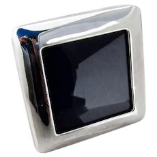 Italian Square Picture Frame Sterling Silver 1960