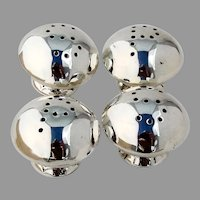 Navajo Salt Pepper Shakers Two Sets Sterling Silver