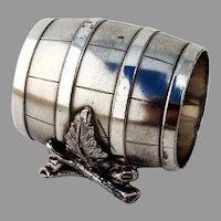 Barrel Form Napkin Ring Simpson Hall Miller Silverplate