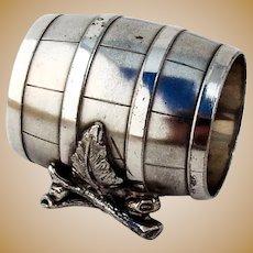 Barrel Form Napkin Ring Simpson Hall Miller Silverplate