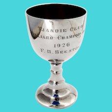 Billiard Trophy Cup Gilt Interior 830 Standard Silver 1920s