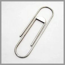 Large Figural Paper Clip Sterling Silver