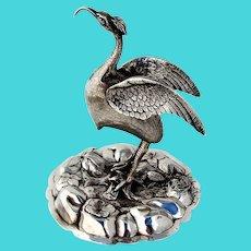 Portuguese Figural Ibis Toothpick Holder 833 Standard Silver 1900