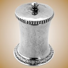 Gorham Pepper Mill Grinder Foliate Base Sterling Silver 1930