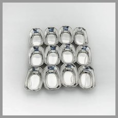 Madam Morris 12 Nut Cups Dishes Set Whiting Sterling Silver 1909