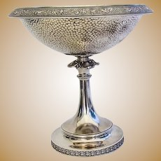 Wendt Bird Centerpiece Bowl Pedestal Base Sterling Silver 1870
