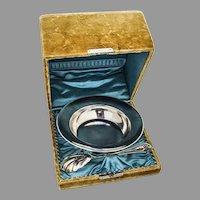 Schulz Fisher Sterling Bowl Preserve Spoon Set Presentation Box